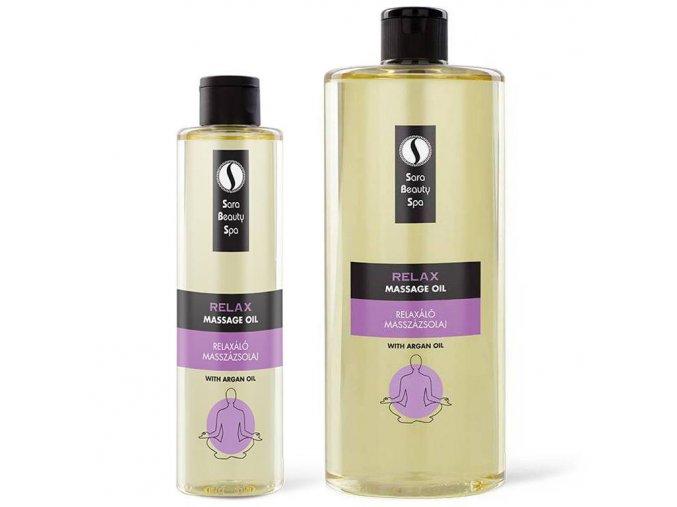 sara beauty spa prirodny rastlinny masazny olej relax