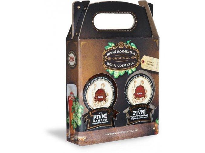 darcekove balenie pivna kozmetika 300 ml pivny sampon