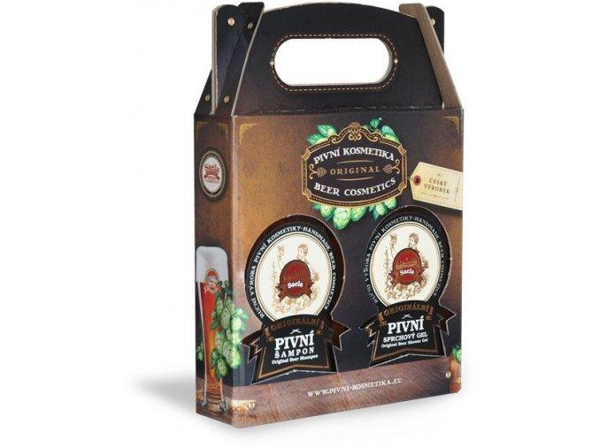 darcekove balenie pivna kozmetika 300 ml pivny sampon sprchovy gel