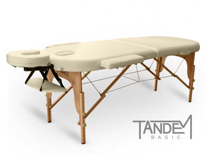 skladaci masazny stol tandem basic 2 oval kremova