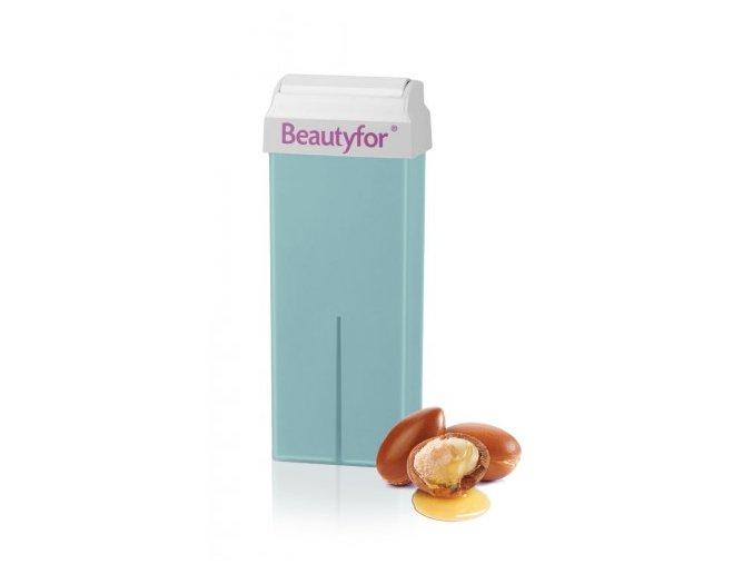 Depilační vosk zelený s oxidem zinečnatým a arganovým olejem Beautyfor® 100 ml