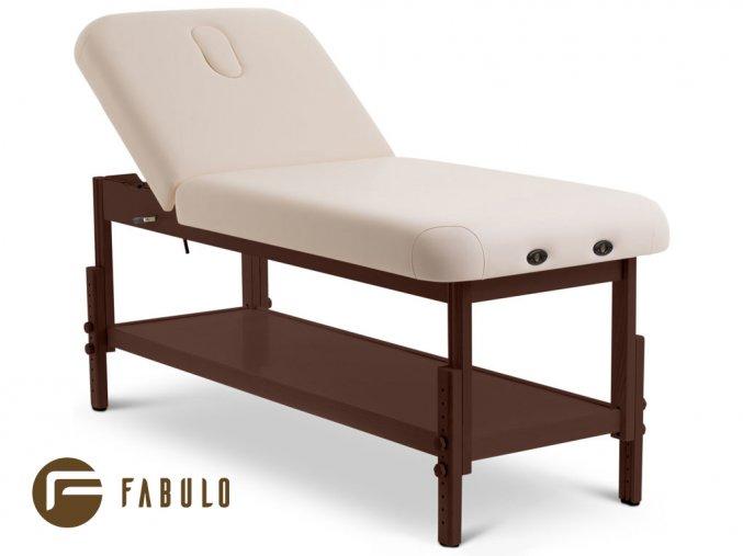pevne masazne lehatko drevene fabulo guru spa lux v2 set tmava konstrukcia kremova