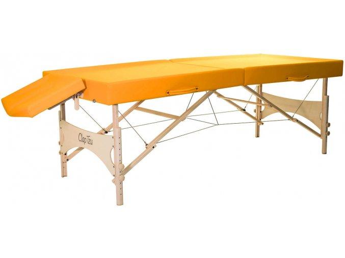 dreveny masazny stol skladaci clap tzu ayurveda shirodhara oranzova siena 1