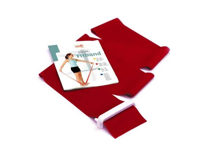 elasticky pas na cvicenie sissel fitband cervena 7