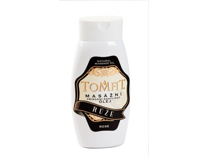 tomfit prirodny rastlinny masazny olej ruza 250 ml 27 0043