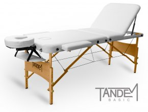 skladaci masazny stol tandem basic 3 biela