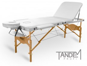 skladaci masazny stol tandem profi w3d biela