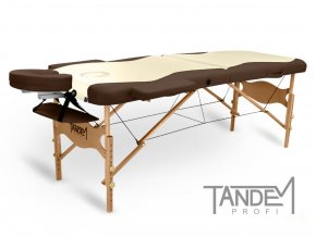 skladaci masazny stol tandem profi w2d kremova cokolada otv