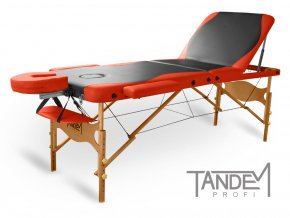 skladaci masazny stol tandem profi w3d duo cierna oranzova otv