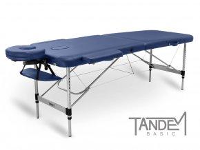 skladaci masazny stol tandem basic alu 2 modra otv