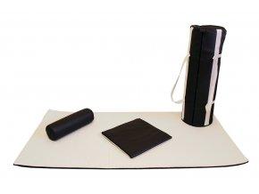 Skladací matrac FLOW Portable DUO Set na thajskú masáž a Shiatsu  200*100*2,5 cm / krémovo-čokoládová
