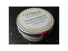 mirach prirodny deodorant s oxidom zinocnatym ylang ylang