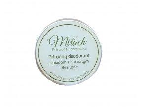 mirach prirodny deodorant s oxidom zinocnatym natur 45ml