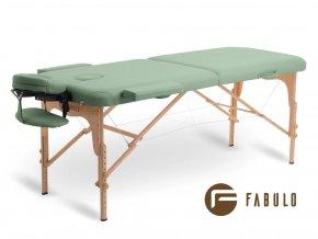 skladaci masazny stol dreveny fabulo uno svetlo zelena otv