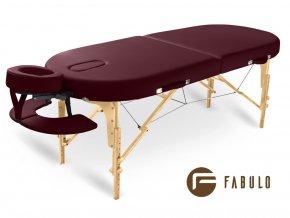 skladaci masazny stol dreveny fabulo guru oval bordova otv