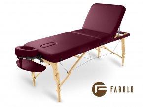 skladaci masazny stol dreveny fabulo guru plus bordova otv