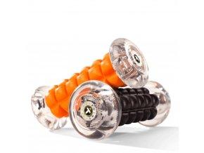 Masážny valec Nano Roller čierny a oranžový