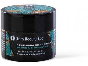 SBS266 vyzivujuci nocny pletovy krem sara beauty spa vitamin a kokosovy olej