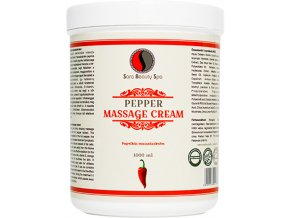SBS173 paprikovy masazny krem na formovanie tela sara beauty spa pepper massage cream 1000 ml sbs173 new