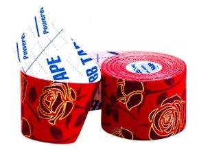 kineziologicky tejp bb tape rose ruza cervena 1