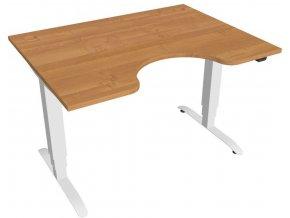 Elektricky výškově stavitelný stůl Hobis Motion Ergo - 3 segmentový, standardní ovladač (Farba dosky višňa, Farba kovu sivá RAL 9006, Šírka 180 cm)