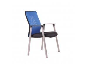 ergonomicka rokovacia stolicka officepro calypso meeting modra 1