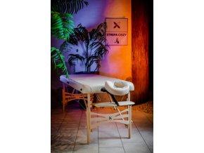 Skladací masážny stôl HABYS® Panda (Farba tmavo hnedá (#38) - Vinyl Flex, Veľkosť a farba rámu 180x70cm - buk tmavý (+79€))