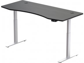 elektricky vyskovo nastavitelny stol hi5 2 segmentovy pamatovy ovladac konstrukcia biela doska cierna 1