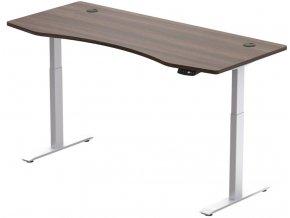 elektricky vyskovo nastavitelny stol hi5 2 segmentovy pamatovy ovladac konstrukcia biela doska orech