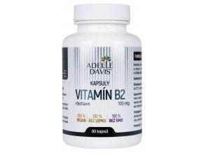 adelle davis vitamin b2 riboflavin 100 mg 60 kapsul