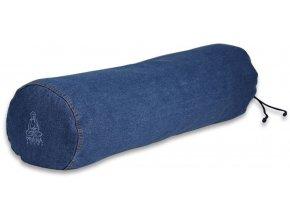 bolster na jogu valec riflovy modry big