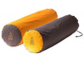 bolster na jogu valec obojstranny oranzovy hnedy