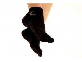protismykove ponozky na pilates jogu bamboo Sissel socks cierne