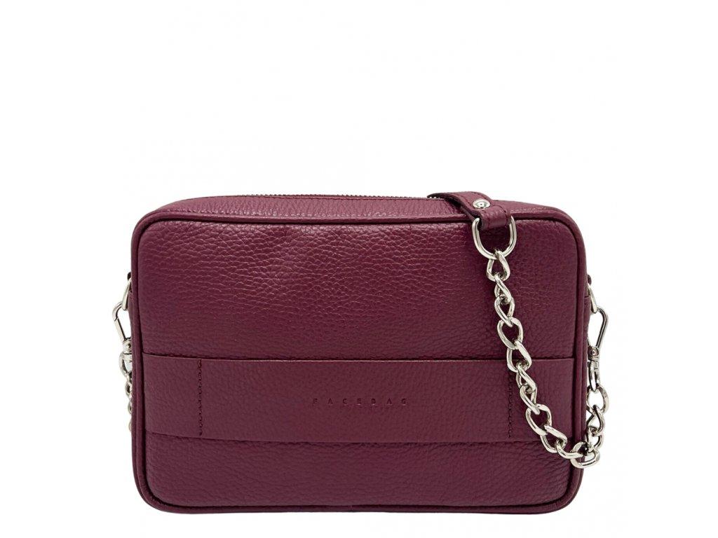 Kožená kabelka Nina černá dolaro