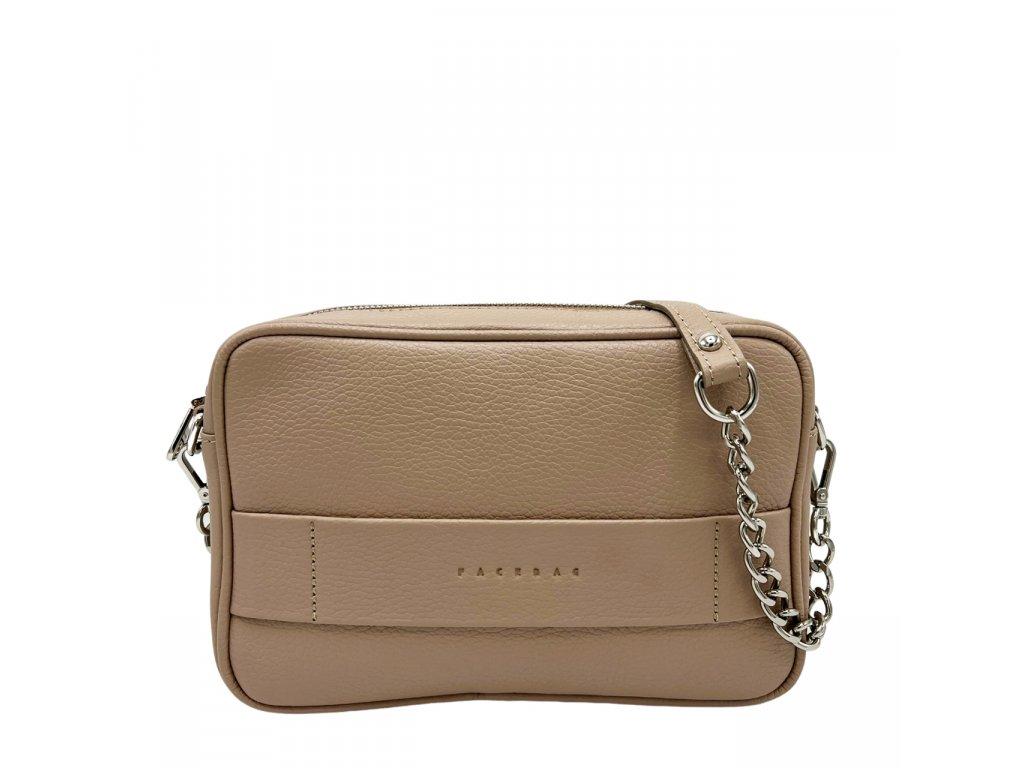 Kožená crossbody kabelka černá NINA (4)