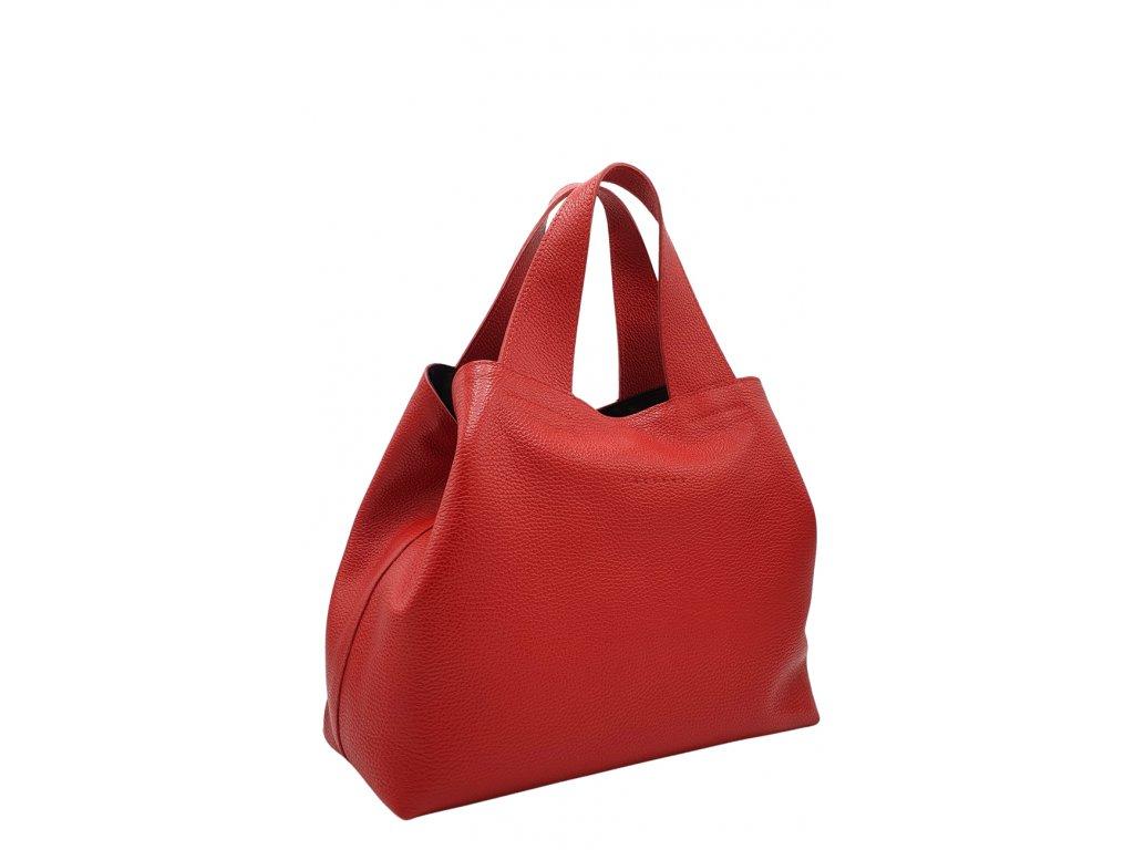 Kožená kabelka Sofi červená