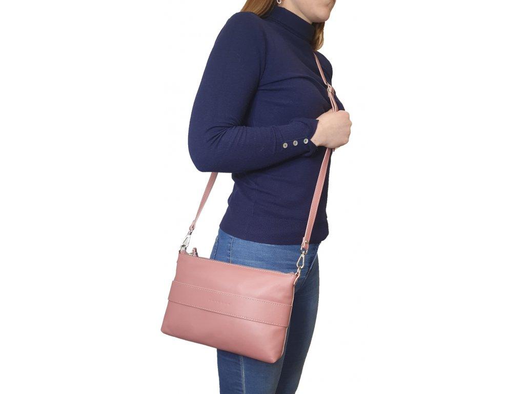 Dámská kožená kabelka žlutá (1)