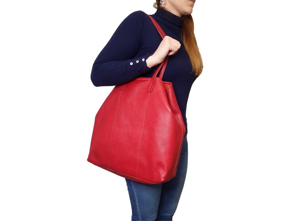 7014 67 damska kozena kabelka facebag mia cervena dolaro 622x1300