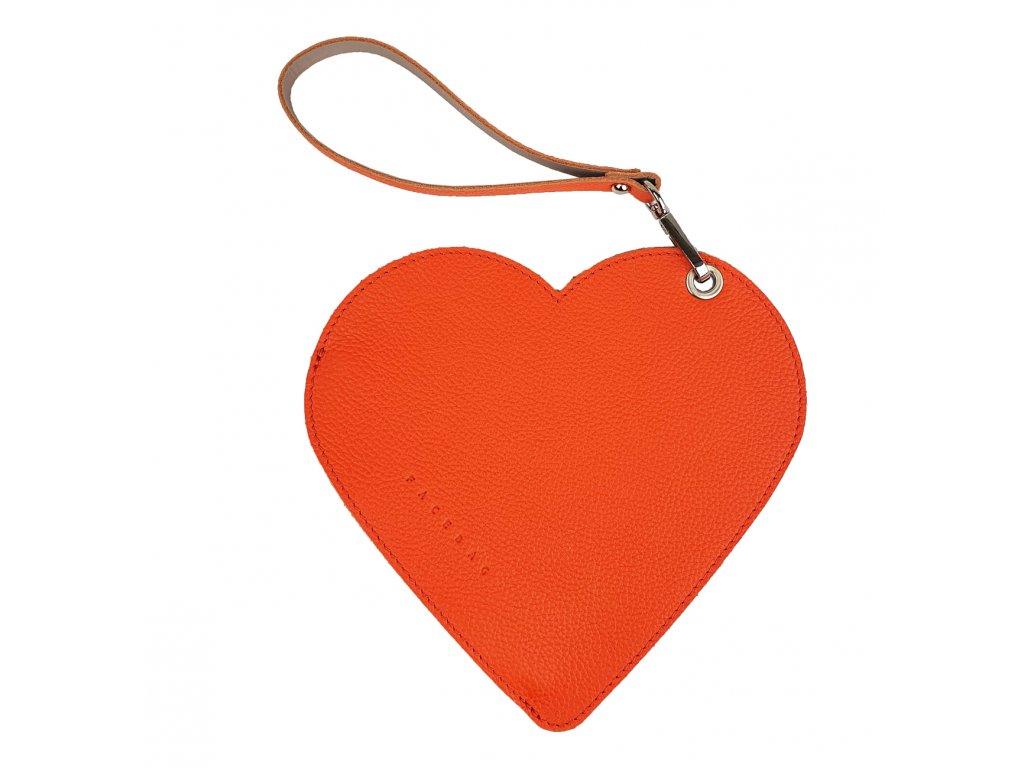 2370 kozene psanicko do ruky srdce modra oboustranna