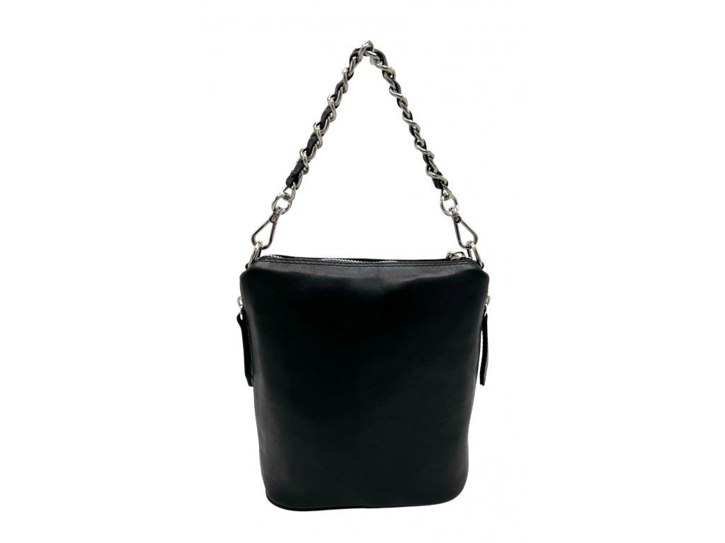Kožená kabelka Emma malá černá hladká
