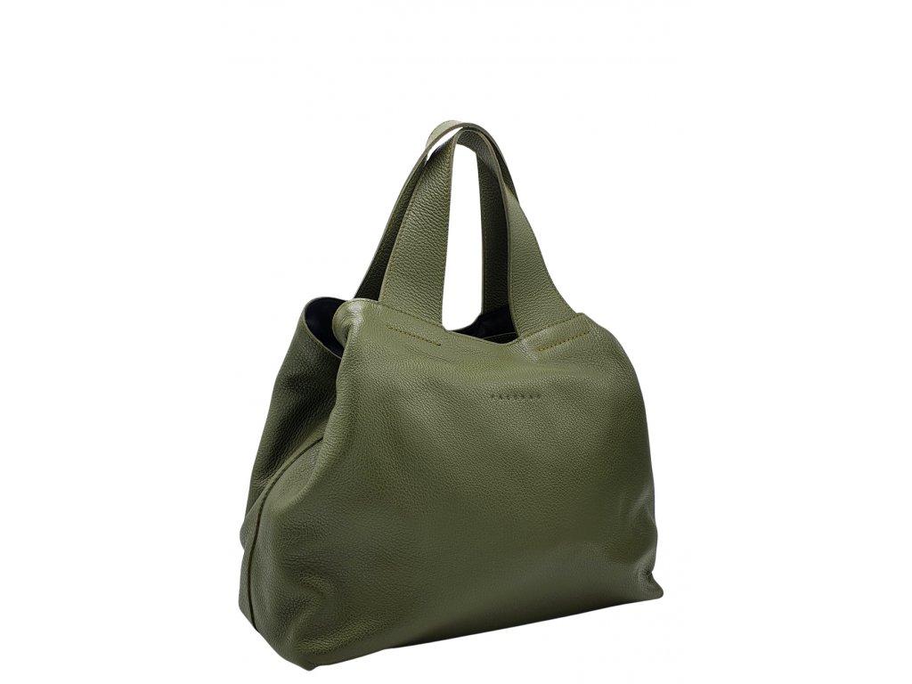 Kožená kabelka Sofi olivová