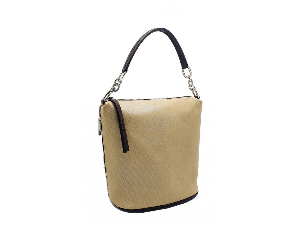 4035 damska latkova kabelka moly hnedo zlata