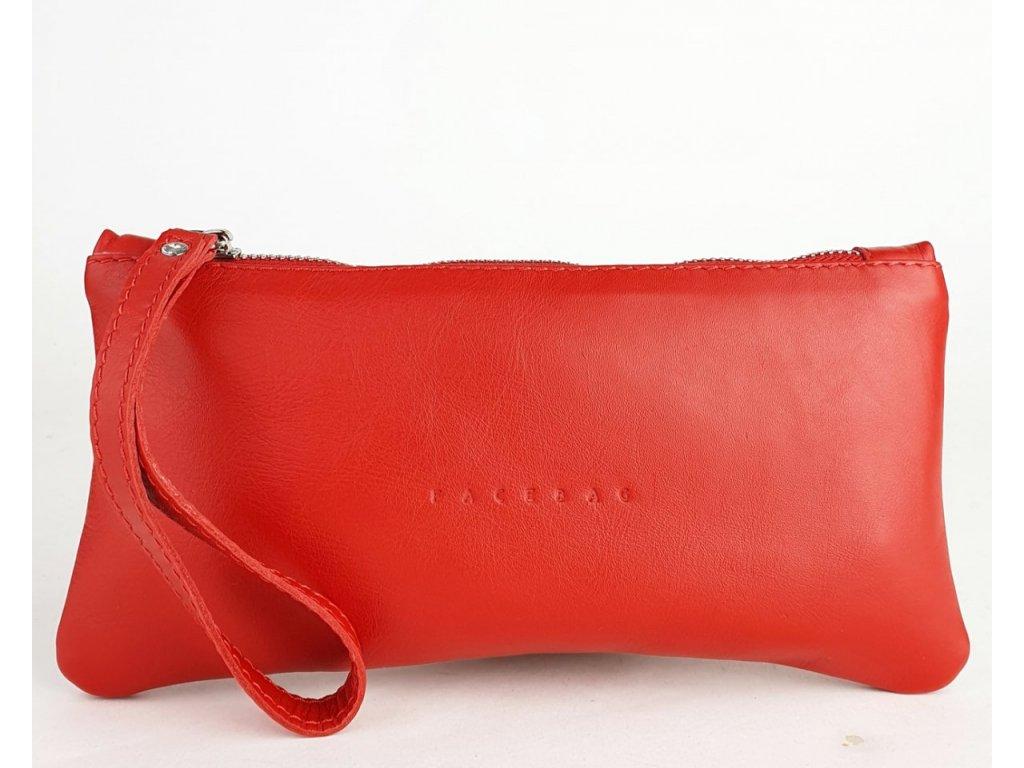 8043 1 163 damska kozena tasticka do ruky facebag elen 1 vetsi cervena hladka 1200x961