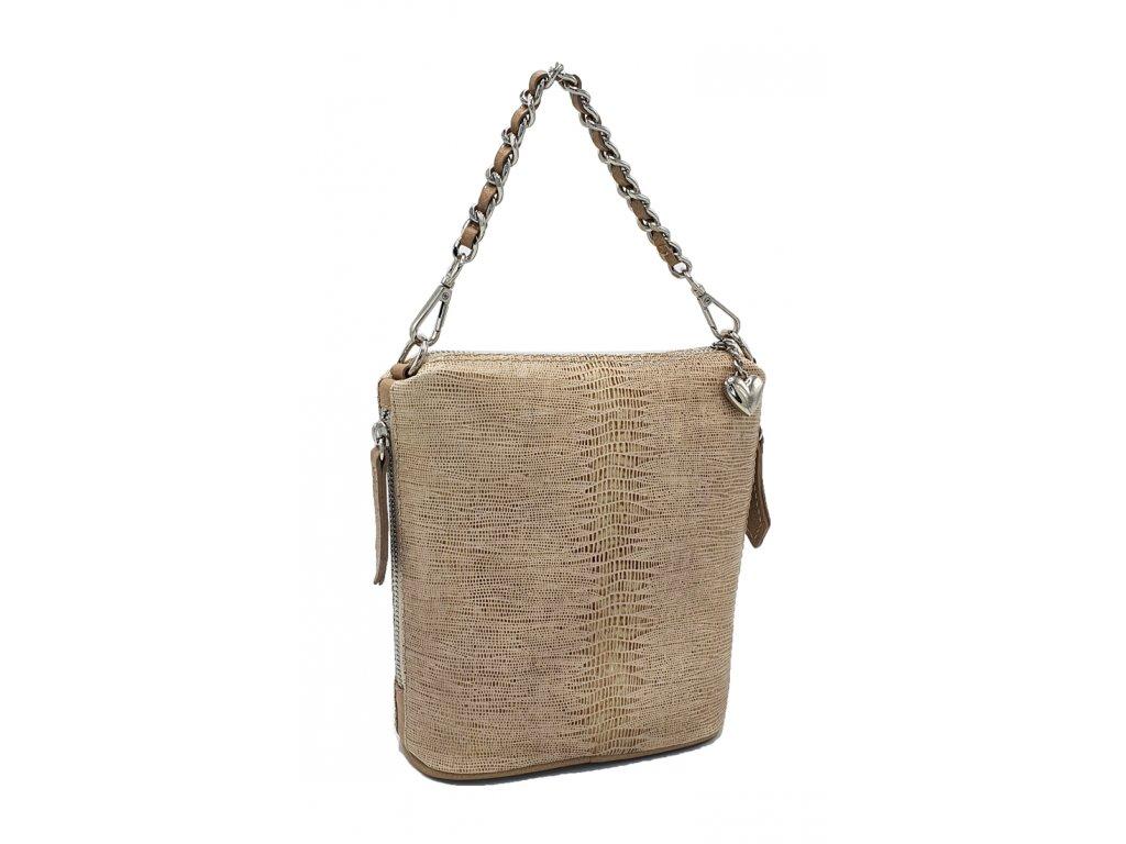 Kožená crossbody kabelka zlatá rejnok Emma1 6034 (1)