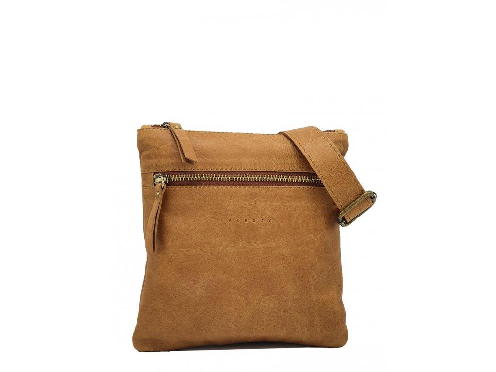 Pánská kožená taška přes rameno hnědá vintage Pepe (1)