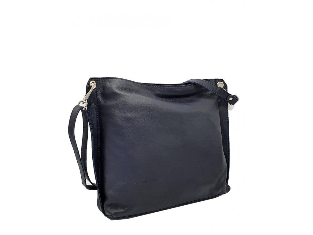 Kožená kabelka Casia modrá 7060 (4)