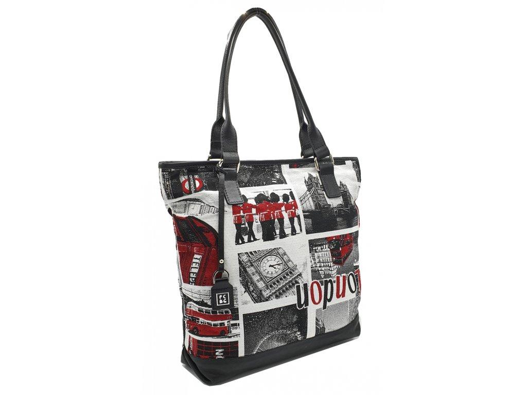 Kožená kabelka latka + kůže london černá (1)