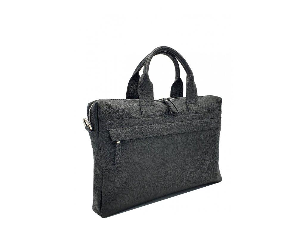 Pánská kožená taška Frank černá dolaro