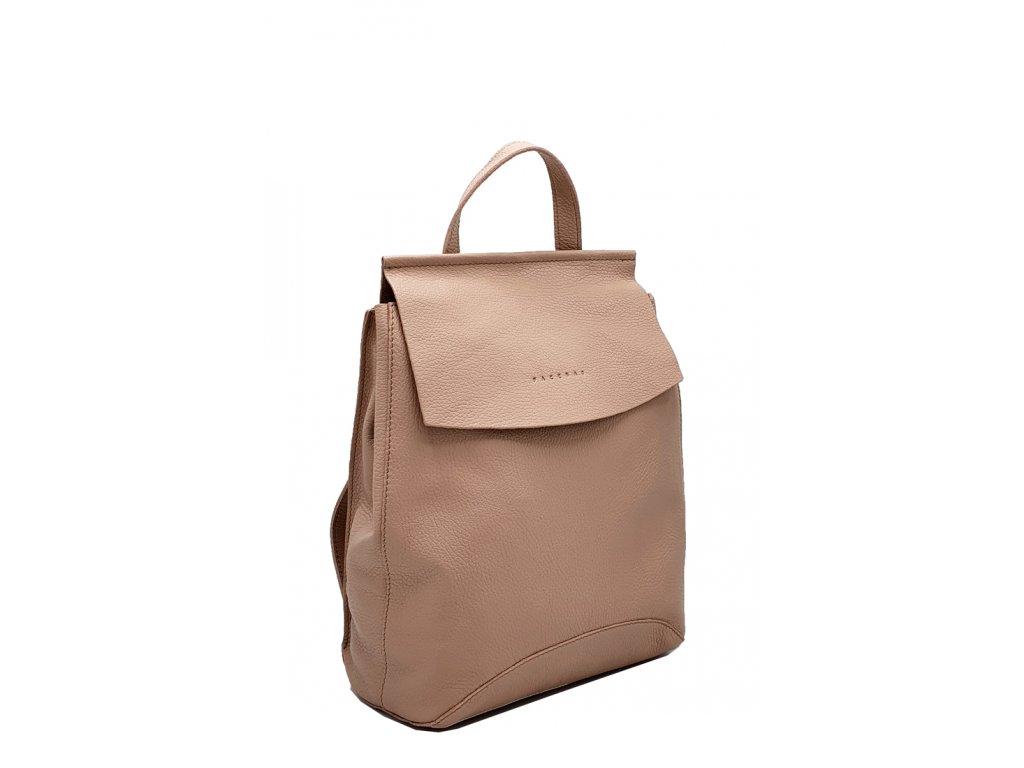 Kožený batoh pudrový Kenny 8018 (1)