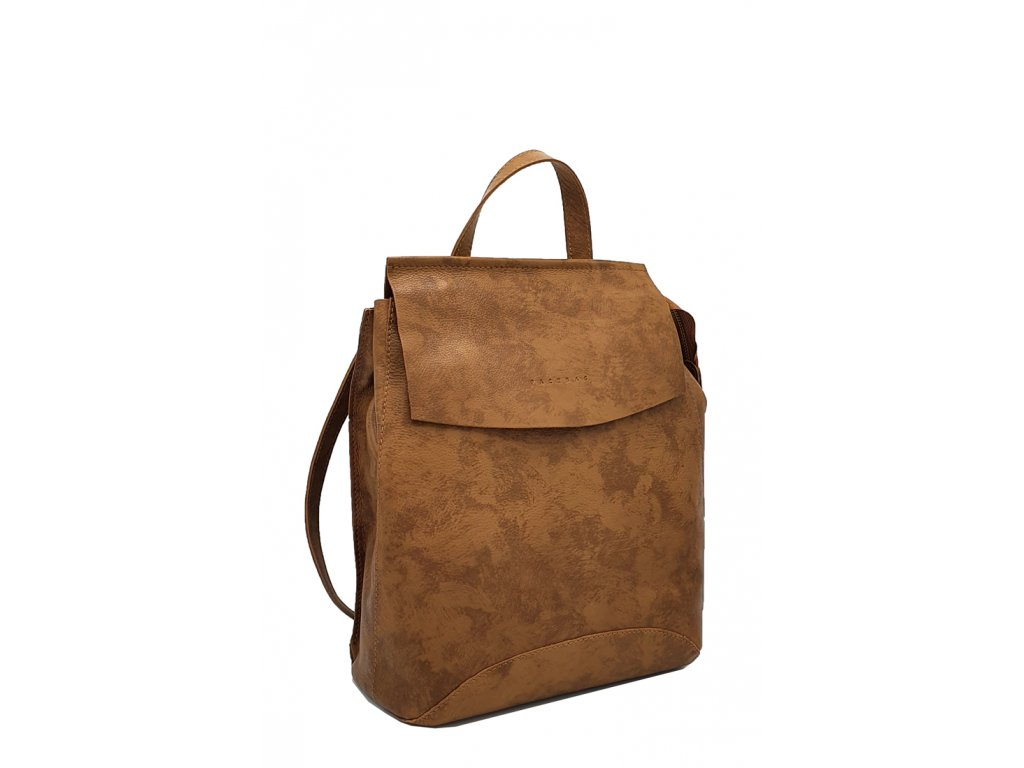 Kožený batoh hnědý vintage Kenny 8018 (1)